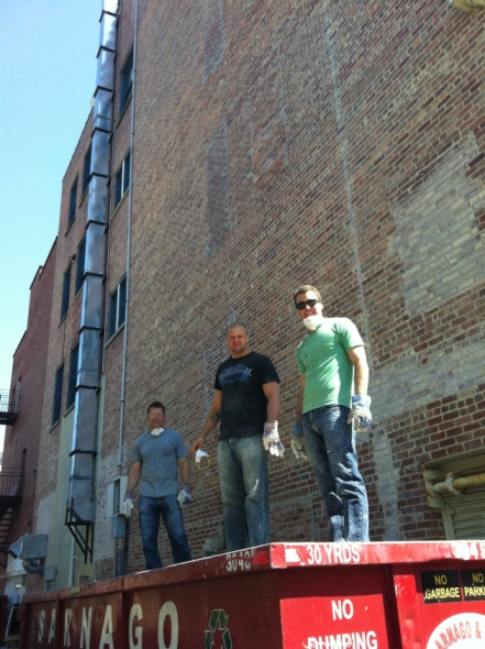 Tim, Ryan and Greg hard at work getting our space ready!